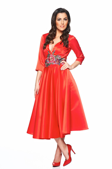 poze cu Rochie Artista Famous Embroidery Red