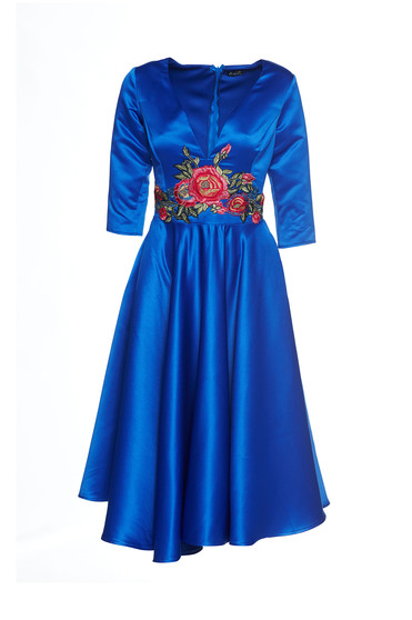 Rochie Artista Famous Embroidery Blue