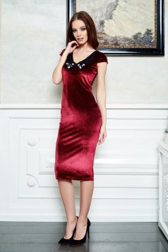 Rochie StarShinerS Party Time Burgundy