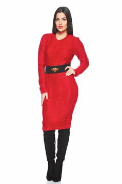 Rochie PrettyGirl Warm Winter Red