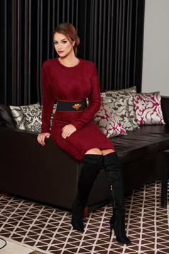 Rochie PrettyGirl Warm Winter Burgundy