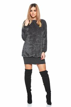 Rochie MissQ Fluffy Thing DarkGrey