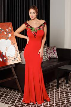 Rochie Artista Flower Embroidery Red