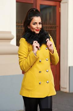 Palton LaDonna Stylish Season Yellow