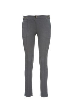 Pantaloni PrettyGirl Trendy Zipper Grey
