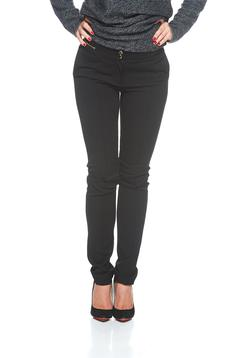 Pantaloni PrettyGirl Trendy Zipper Black