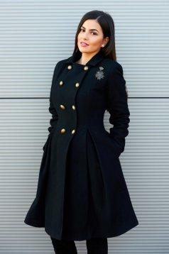 Palton PrettyGirl Military Style Black