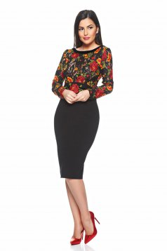 Rochie LaDonna Beautiful Roses Black