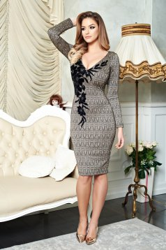 Rochie LaDonna Perfect Embroidery Gold