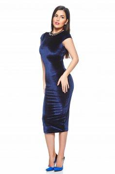 Rochie StarShinerS Charming Velvet DarkBlue