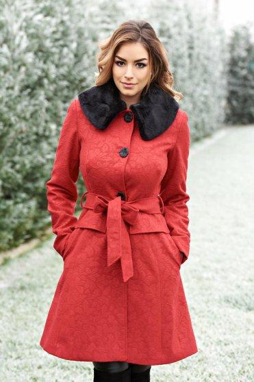 Palton Artista Winter Style Red