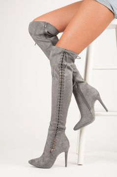 Cizme Classy Heels Grey