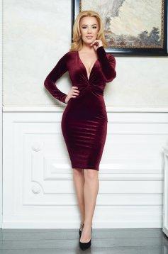Rochie LaDonna Divine Velvet Burgundy