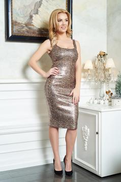 Rochie PrettyGirl Magic Starlight Gold