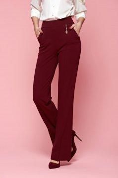 Pantaloni Fofy Classy Fame Burgundy