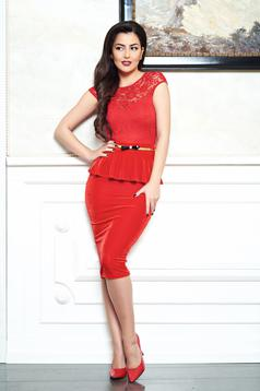Rochie Fofy Gentle Line Red