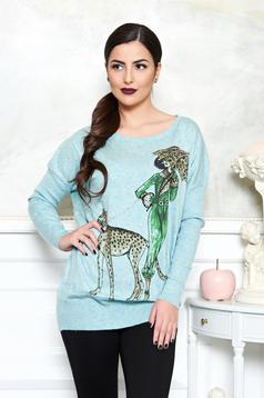 Pulover Fierce Fashionista LightBlue