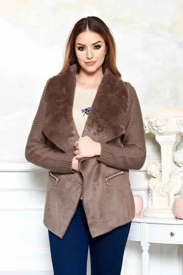 Cardigan Warm Style Brown