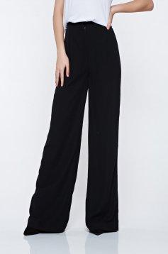 Pantaloni Ana Radu negri eleganti cu talie inalta evazati