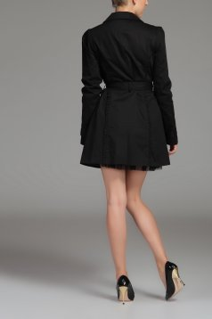 Palton Top Secret S026544 Black