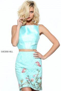 Rochie Sherri Hill 50817 Aqua