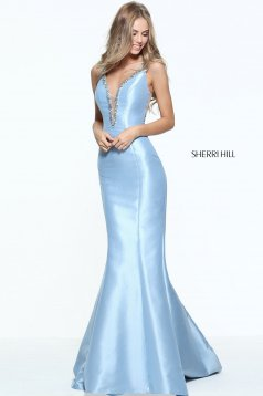Rochie Sherri Hill 50994 light blue
