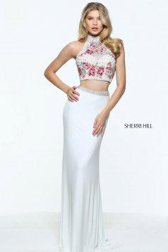 Rochie Sherri Hill 51059 White