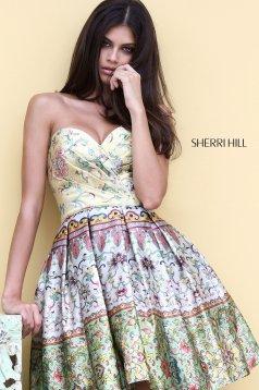 Rochie Sherri Hill 50796 Yellow