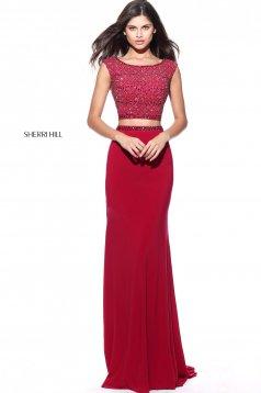 Rochie Sherri Hill 51125 Burgundy
