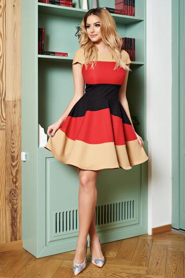 Rochie Artista Colourful Lines Red
