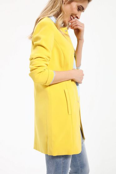 Palton Top Secret S027552 Yellow