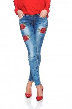 Blugi Red Roses Blue