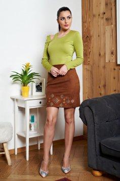 Bluza Dama Verde-deschis StarShinerS Cu Decupaje In Material