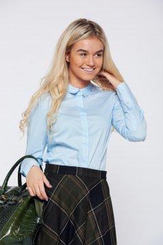 Camasa dama Top Secret albastra-deschis basic cu maneca lunga