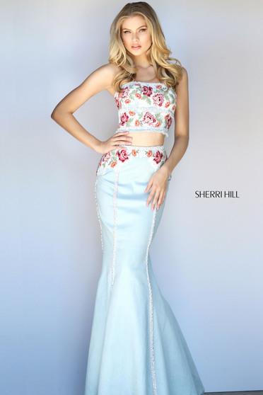 Rochie Sherri Hill 51060 LightBlue