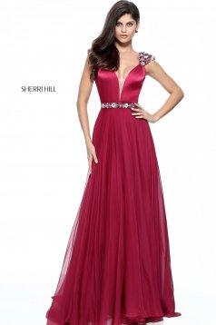 Rochie Sherri Hill 51137 Burgundy