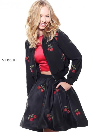 Jacheta Sherri Hill J51175 Black