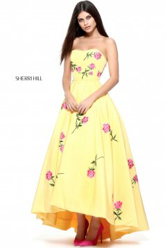 Rochie Sherri Hill 51177 Yellow