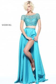 Rochie Sherri Hill 51185 Turquoise