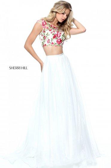 Rochie Sherri Hill 51243 White