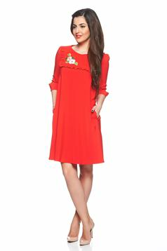 Rochie LaDonna Floral Delight Red