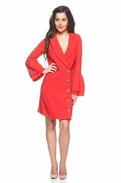 Rochie Artista Office Buttons Red