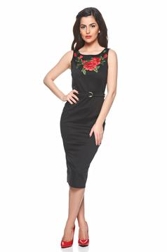 Rochie PrettyGirl Beautiful Embroidery Black