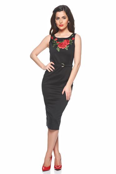 Rochie PrettyGirl Beautiful Embroidery Black