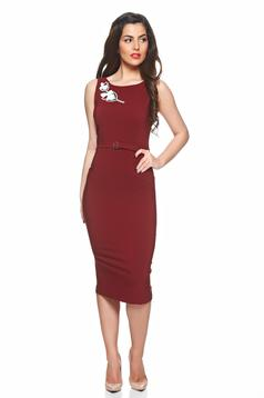 Rochie PrettyGirl Beautiful Embroidery Brown