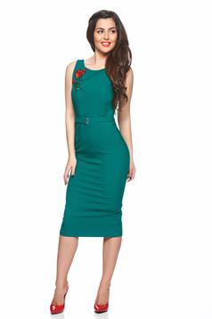 Rochie PrettyGirl Beautiful Embroidery Green