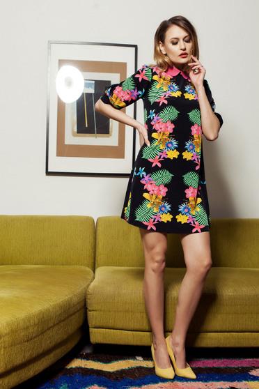 Rochie PrettyGirl Colorful Spring Black