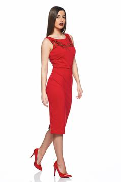Rochie PrettyGirl Beautiful Embroidery Red