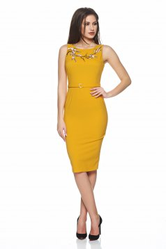 Rochie PrettyGirl Beautiful Embroidery Yellow
