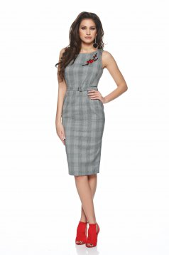 Rochie PrettyGirl Beautiful Embroidery Grey